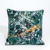 Never Mind The Pollocks Scatter Cushion in Green
