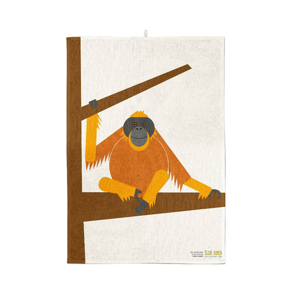 Orangutan Organic Cotton Tea Towel
