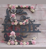Flower Name Plaque