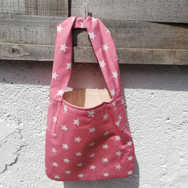 'Smallish' Tote Bag - Pink Stars