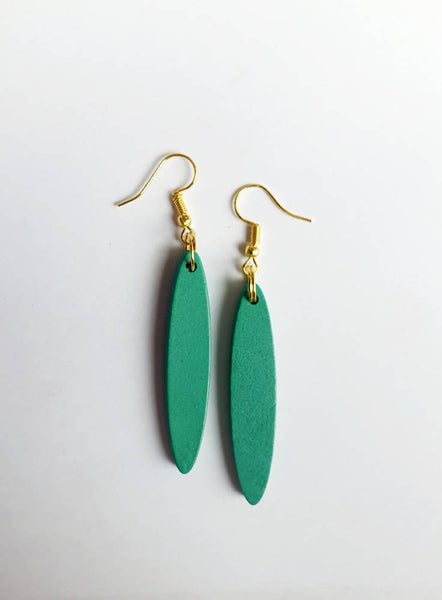 Turquoise Wooden Drops