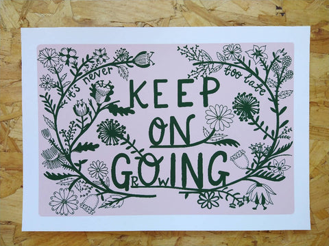 Keep on Going Keep on Growing It's Never Too Late