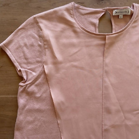 Warehouse pink knitted top, size 14