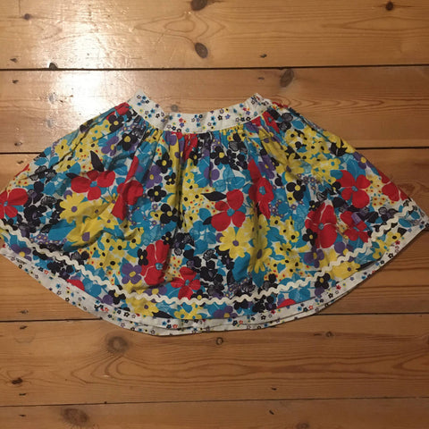 Little Bird by Jools floral skirt (3-4)