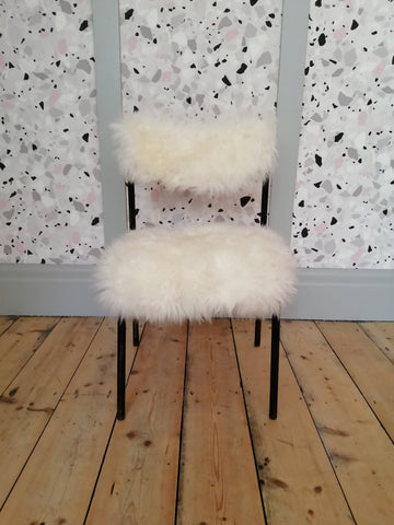 Refinished Kid's Vintage Sheepskin Chair