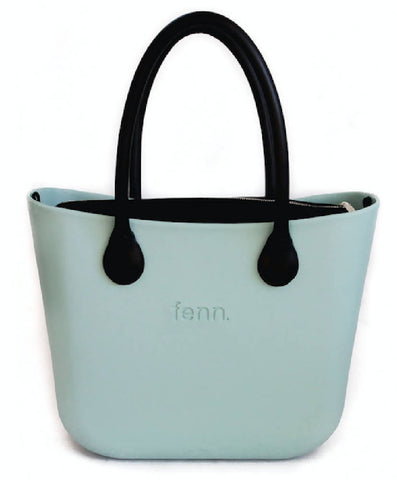 Sage Fenn bag with black canvas inner and black handles