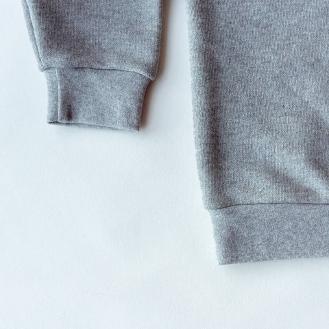 Kids Mix & Match Organic Sweatshirt Grey Marl