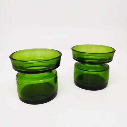 Modernist Dansk Glass Candle Holders