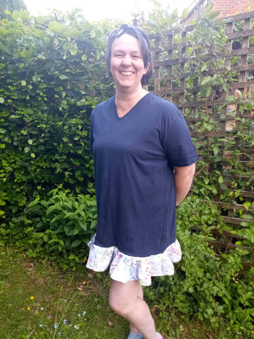 Upcycled t-shirt dress/tunic