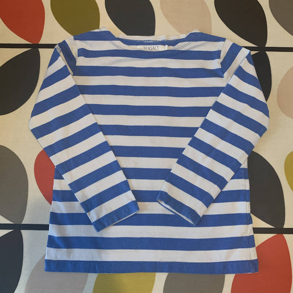 Seasalt Blue Striped Long Sleeved T-Shirt