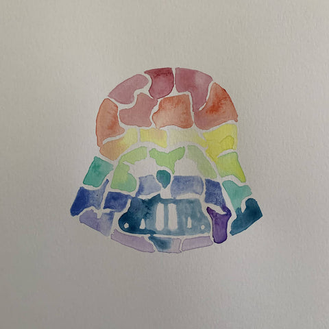 'Rainbow' Darth Vader Watercolour