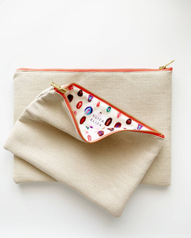 V Collection Cream Clutch bag