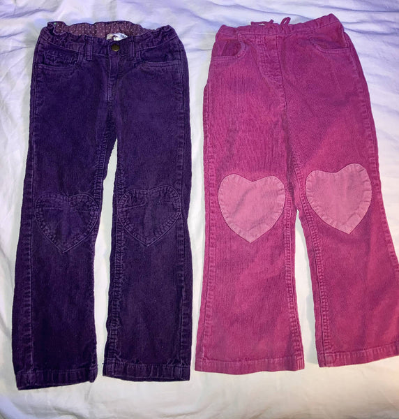Girls Corduroy's X 2 - 5-6 years