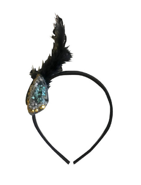 PRETTY DISTURBIA ORIGINAL HANDMADE FEATHER HEADBAND PUNK GRUNGE