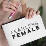 Fearless Female Linen Make Up Pouch