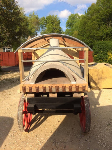 Wood fired mobile pizza bread oven - handmade in England