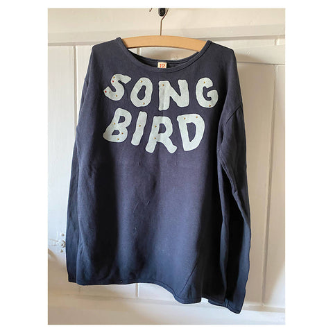 BELLEROSE BLUE SONGBIRD L/S TOP AGE 10/12