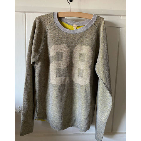 BELLEROSE YELLOW/GREY/gold lurex sparkly top AGE 12/14