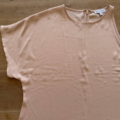 Warehouse pale pink one-shoulder top, size 14