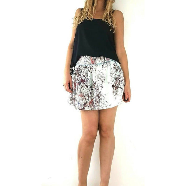 Ted Baker Blue Mini Skirt Pockets Size 2 UK 10
