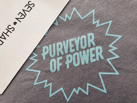 Purveyor of Power Sustainable T-Shirt Grey