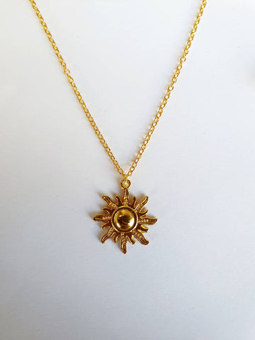 Sun Pendant and Chain