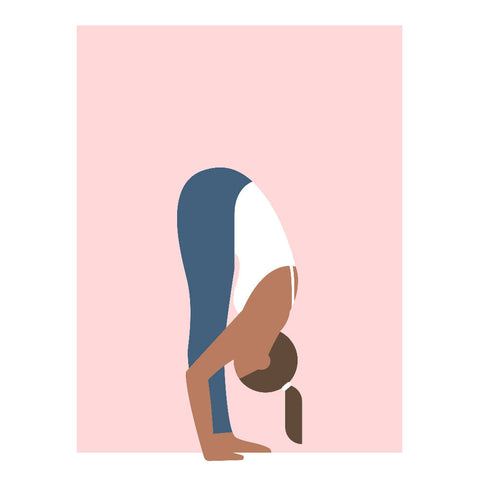 Foward fold yoga art print