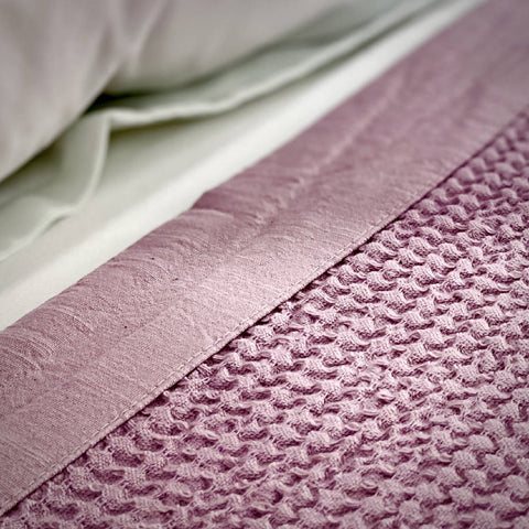 LARGE BAMBOO & COTTON BLANKET Indigo | Grey | Dusty Rose