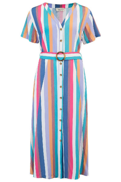 Sugarhill Brighton - Cassidy Cruise Stripe Midi Dress