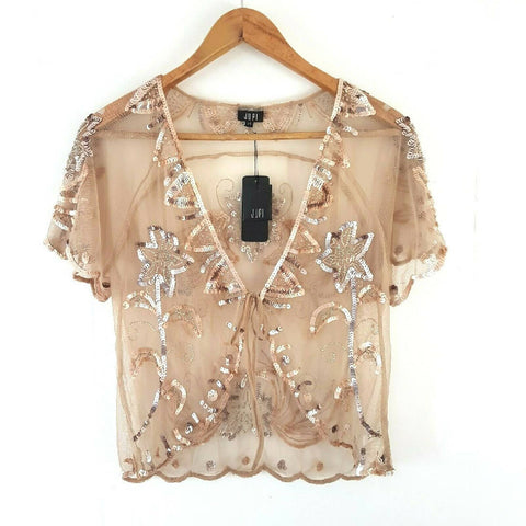 NEW Jupi Sequin Shrug Cape 14