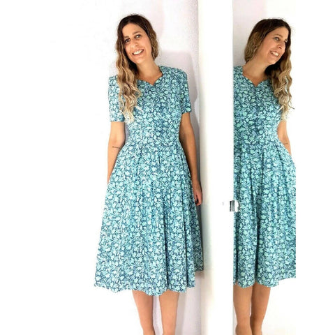 Vintage Laura Ashley Dress Prairie 10