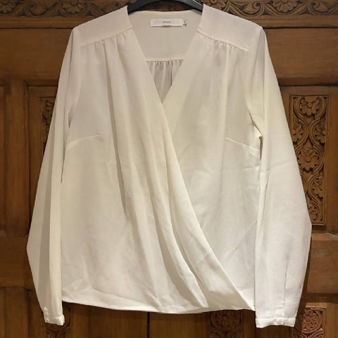 John Lewis cream wrap blouse, 12