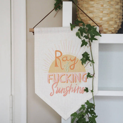 Ray Of F*cking Sunshine Wall Hanging