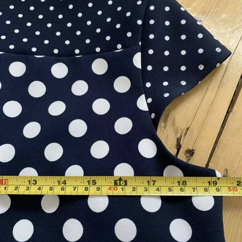Phase Eight Blue Polka Dot Pencil Dress Size 16