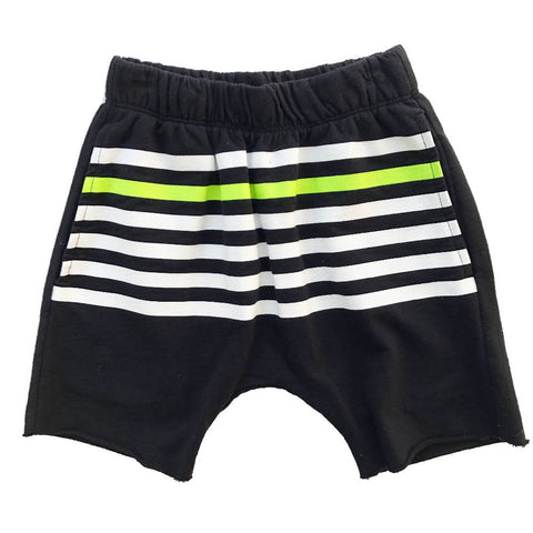 JOAH LOVE BLACK STRIPE SHORTS 4 YEARS
