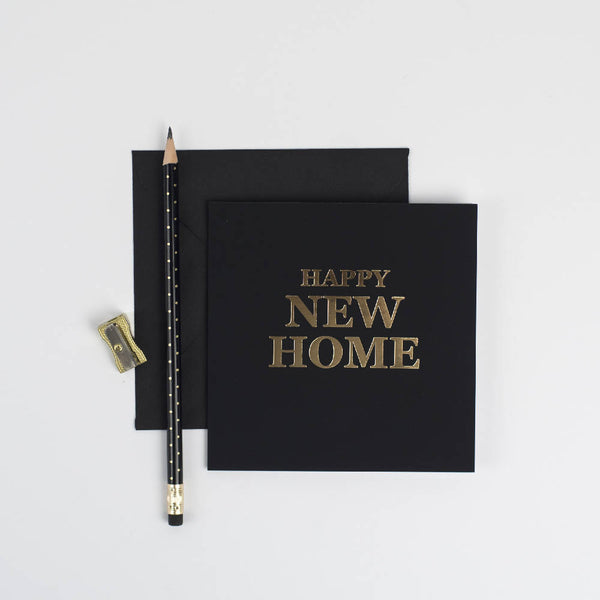 Happy New Home gold foil, handpressed card