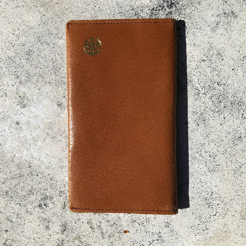 Vintage pigskin wallet with pencil