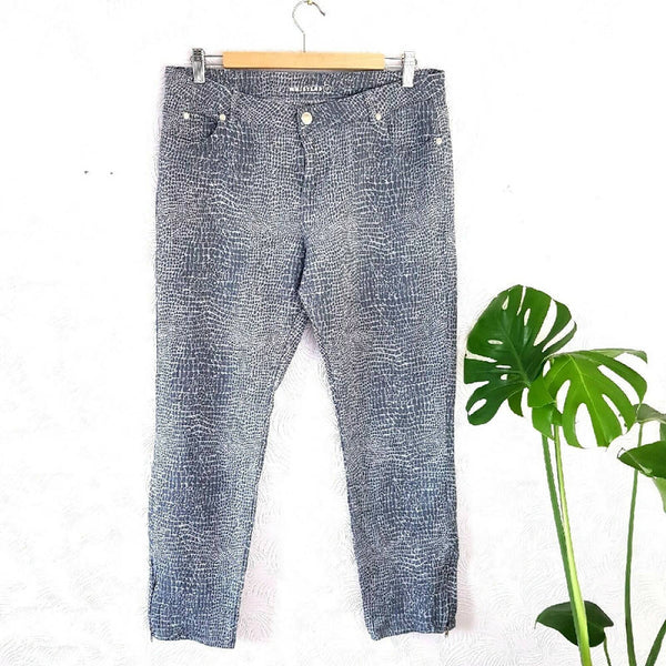 Whistles Crocodile Blue Grey Jeans 16