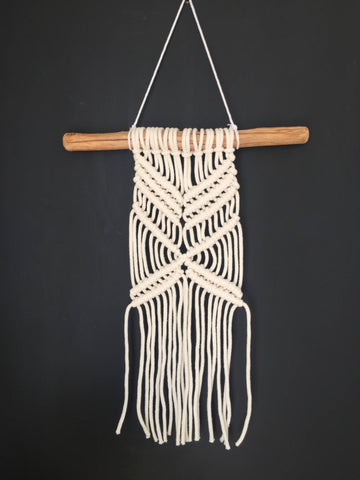 Modern Off White Macramé Wall Hanging