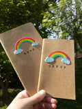 Rainbow hope notebook set