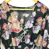 Minkpink Floral Maxi Dress Chiffon Large