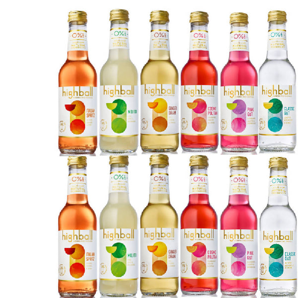 Highball Alcohol Free 12x25cl bottle cocktail pack (0% ABV)