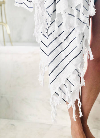 White Turkish Bath Towel