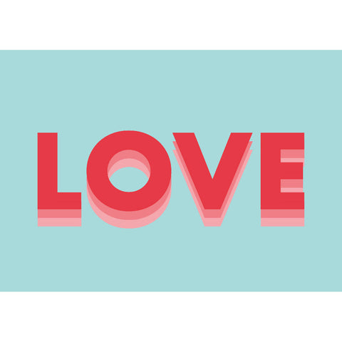 Love (blue/red) | Home Decor - Wall Art - Typography