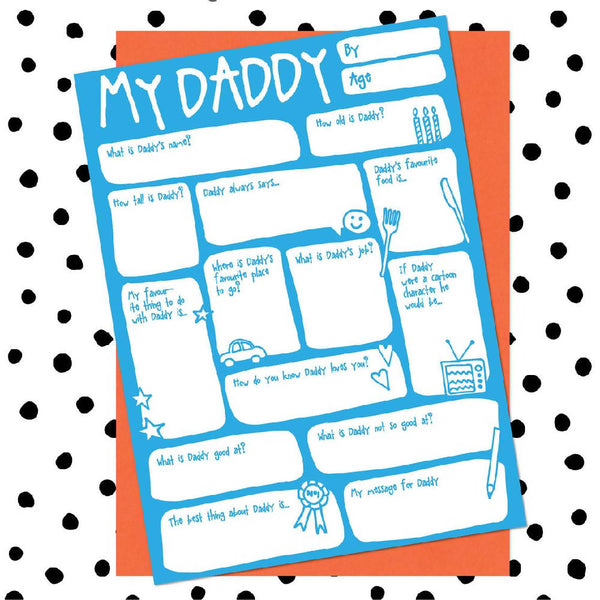 My Daddy Fill-In-The-Blanks Father's Day Greetings Card