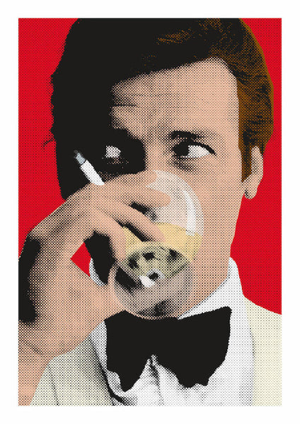Roger Moore PopArt Poster Print - Home Decor - Wall Art