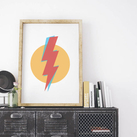 Lightning Art Print | Home Decor - Wall Art - Typography