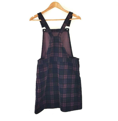 TU Corduroy Checked Pinafore Dress 10