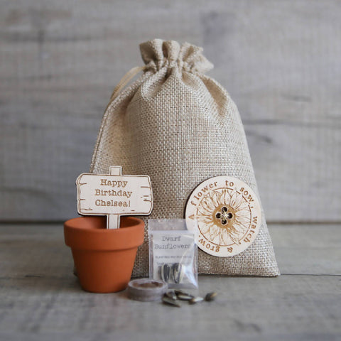 Personalised Sunflower Seed Grow Kit
