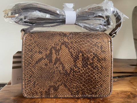 Oasis BNWT brown snakeskin cross body bag